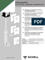 SCHELL WC-Betätigungsplatte EDITION / EDITION ECO, ECO 100 / AMBITION / AMBITION ECO
