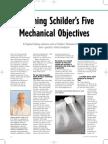 Explaining Schilders Five Mechanical Objectives