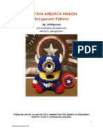 Captain America Minion Crochet
