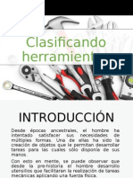 Clasificación de herramientas de trabajo