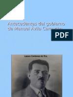 Antecedentes del gobierno de Manuel Ávila Camacho