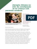 Auriculoterapia Chinesa No Tratamento Da Constipação Intestinal Na Criança Com Paralisia Cerebral