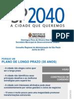 SP 2040 - A Cidade Que Queremos