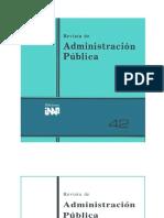 Revista de administración Pública #42