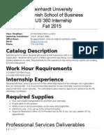 boosel bus 380 internship syllabus  fall 2015
