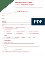 Ficha de Leitura 5ANO 2013