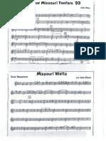 Mizzou Tenor Sax music