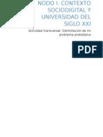 Actividad Transversal Delimitación Del Problema Prototípico.