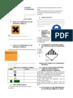 Examen de Señalización Seguridad Ocupacional