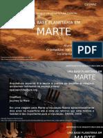 ARQUITETURA ESPACIAL - UMA BASE PLANETÁRIA EM MARTE