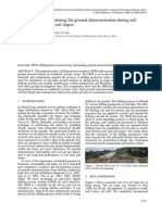 Drilling Process Monitoring for Ground Characterization During Soil