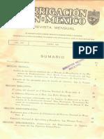 Irrigación en México, Volumen 8 Numero 1