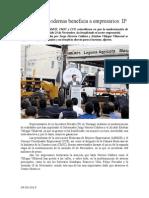 04.09.2014 Comunicado Vialidades Modernas Beneficia a Empresarios IP