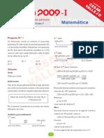 Solucionario Uni 2009-i Matematica