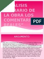 Analisis Literario de La Obra Los Comentarios