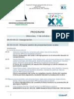 Programa XX Simposio del Departamento de Ciencias de la Salud