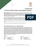 Sun Pharma announces Absorica patent litigation settlement [Company Update]