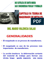 Capitulo IV Teoria de Maquinado de Metales Procesos de Manufactura i