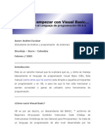 Empezar Con Visual Basic