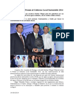 14.09.2014 Durango Recibe Premio Al Gobierno Local Sustentable 2014