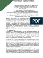 INFLUENCIA DE LA PRECIPITACIÓN EN LA DEPOSICIÓN DE MATERIAL PARTICULADO SOBRE PANELES FOTOVOLTAICOS INSTALADOS EN ROSARIO, ARGENTINA Y SU CARACTERIZACIÓN CON MICROSCOPÍA ELECTRÓNICA