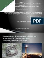 Epidemiologia Dos Acidentes Ofídicos Em Araguaina – To