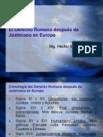 El Derecho Romano despu+_s de Justiniano