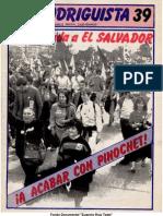EL RODRIGUISTA (FPMR-PC) N° 39 [1989, Noviembre]
