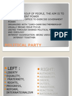 Lecture 9.Parties and Party Systems