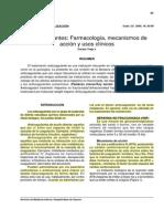 anticoagulantes, farmacología y usos clínicos