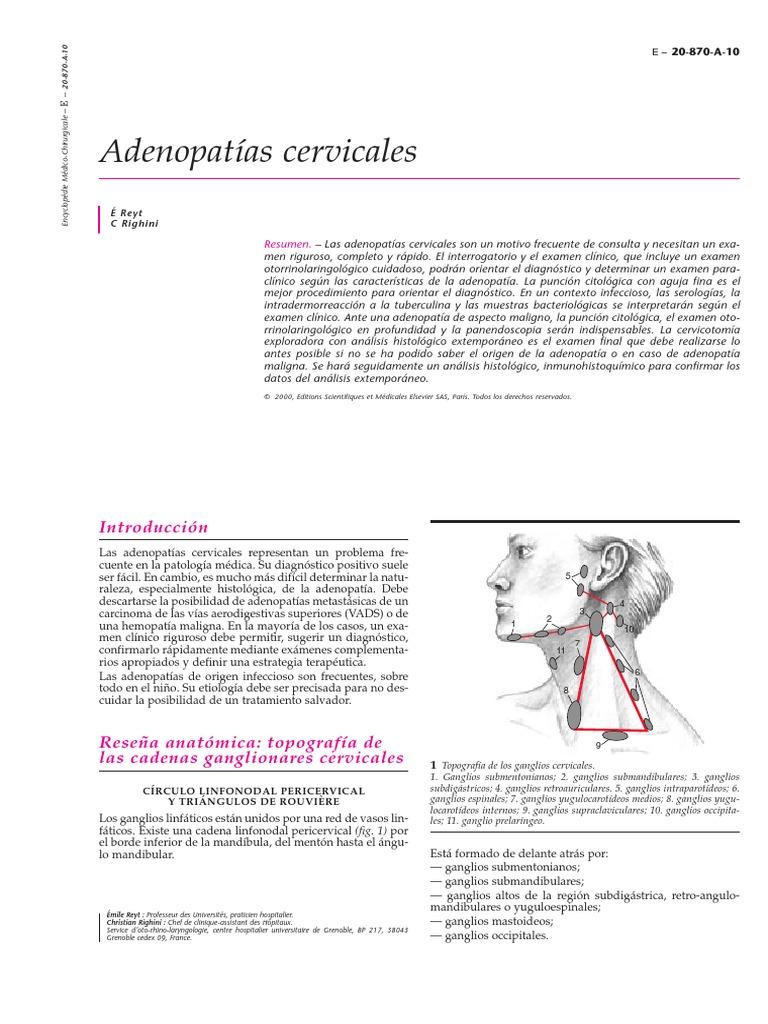 ADENOPATIAS CERVICALES