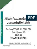 Attributes Acceptance Sampling