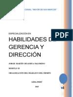 Modulo II - Habilidades de Gerencia y Dirección -Organizacion Del Trabajo y Del Tiempo