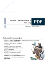 animal classification phylogeny and organization 1