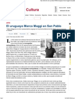 El Uruguayo Marco Maggi en San Pablo - LR21.Com