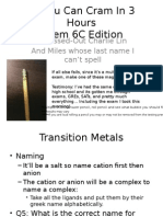 Chem 6C Comprehensive Review