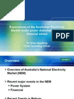1-3-1 as Australian Electricity Market