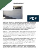 How To Deal With Garage Door Dents?