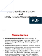 Data Base Normalization and ERD