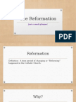 the reformation  website powerpoint