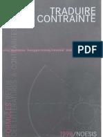 Formules, Revue Des Litteratures à Contraintes Nº 02 Traduire La Contrainte