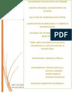 Implicaciones Éticas en El Desarrollo y Aplicación de La Tecnología (1)