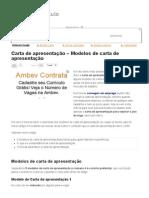 Carta de Apresentação - Modelos de Carta de Apresentação