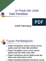 Ukuran Pemusatan Dan Letak Data