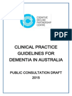 Dementia Guideline Draft for Public Consultation