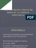 Representación Interna de Datos en Un Sistema Informático