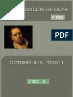 Prueba Escrita de Goya Octubre 2015