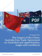 The impact of the China-Australia Fair Trade Agreement