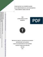 Faktor-faktor Yang Mempengaruhi Pengembalian Kredit Bermasalah Oleh Debitur Gerai Kredit Verena Bogor