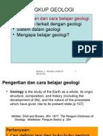 Module 1 - Geologi